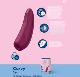 Satisfyer Curvy1+ App Control Rose