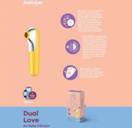 Satisfyer Dual Love App Control Yellow