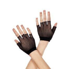 Fishnet Wrist Length Warmer Gloves