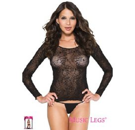 SpiderWeb Long Sleeve Top OS