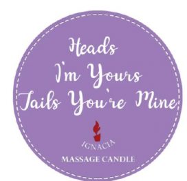 Massage Candle - Heads I'm Yours