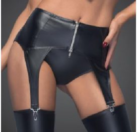Garter Belt with Silver Zipper L